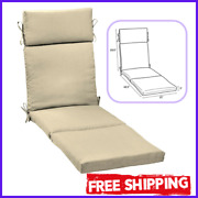 Chair Deep Seat Patio Pad Chaise Lounge Cushions Outdoor Uv Fade Resistant 72x21