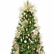 6ft Christmas Tree With 240 Leds Lights And 114pcs Ornaments Rose Gold Champagne