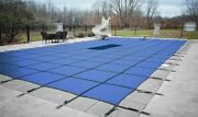 Hpi Aquamaster Rectangle Solid Swimming Pool Safety Winter Cover W/ Drain