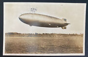 1936 Germany Hindenburg Zeppelin Lz 129 Rppc Postcard Cover To Cleveland Oh Usa