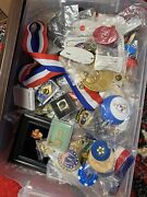 1200+ Vintage Piece Lot Of Pins, Promo Toys, Corporate Gifts, Buttons, Collector