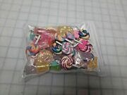 70 Piece Lot Of Candy, Gummy, Sweets, Charms For Jewelry Making,kids Crafts New