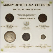 Genuine Coins Of The American Colonies 5 Piece Set Spanish Colonial