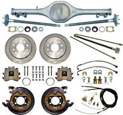 Currie 62-67 X-body Mono-leaf Rear End And Disc Brakeslinesparking Cablesaxles