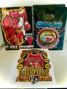 Tee Shirts, Chicago Bulls, All 6 Championships, All Are Professional Nba Brands