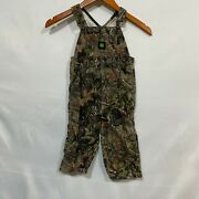 John Deere Unisex Kids Multicolor Camouflage Overall Casual Dungarees Size 2t