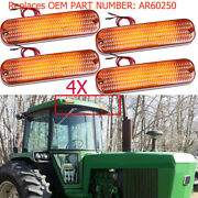 4pcs Ar60250 Led Cab Roof Warning Light Flashing Light For Cab And Canopy Models