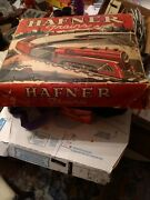 Hafner Wind Up Train Set With Track Engine Cars And Cabooses Wind-up Works