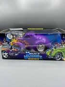 Muscle Machines 1/18 Purple 41 Jeep Willys Coupe Dragster W/ Bars Rare Color