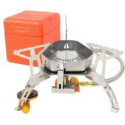 3500w Foldable Windproof Camping Gas Stove Outdoor Cooking Gas Split Burner Us A