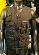 New Outdoor Vest Large Black Military Tactical Hunting Fishing Shooting