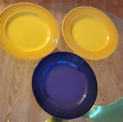 Odd Lot Le Creuset 2 Yellow And 1 Violet 12andrdquo Stoneware Dinner Plate Platter
