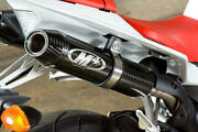 Carbon Fiber Dual Slip On Exhaust W/ Link Pipe M4 Ya9934 For 09-14 Yamaha R1