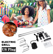 4w Electric Rotisserie Bbq Grill Roaster Spit Rod Chicken Pig Meat Motor Kit Us