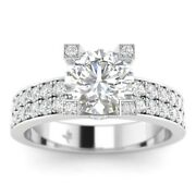 1.45ct G-si2 Diamond Round Engagement Ring 14k White Gold Any Size