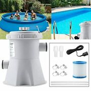 Pool Filter Pumps Above Ground, 300 Gph Clear Cartridge Filter Pump For Inflatab