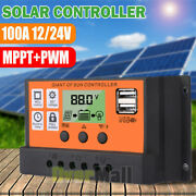 100a Mppt Pwm Solar Panel Regulator Charge Controler Auto Focus Tracking Lcd Usb