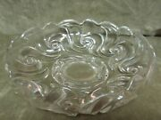 1890's Fostoria Glass Clear Victoria Pressed Pattern Round Cupped Edge Bowl