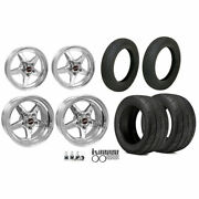 Race Star Wheels 92-afxpol 92 Series Drag Star Wheel And Tire Kit Includes 2