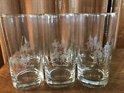 Set Of 6 Crystal Etched Polo Scene 5 3/4 Highball Glasses