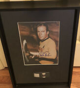 Star Trek Tos Phaser Prop From Set And Signed William Shatner Photo