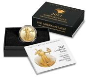 2021-w 1/2 American Eagle One-half Ounce Gold Proof Coin 21ecn Type 2 Confirmed