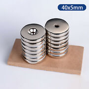 40mm X 5mm N35 Very Strong Disc Magnet Powerful Large Big Round With 8mm Hole