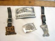 Caterpillar Vintage Watch Fobs And Belt Buckles Machinery Construction Cat
