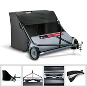 New Lawn Sweeper Tractor Tow Behind Hopper Metal Grass Catcher Leaf Bag 42 Inch