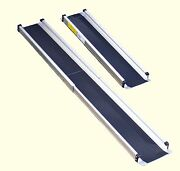Pair Of 6ft / 1.8m Long Telescopic Ramps For Wheelchair Mobility Scooter