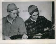 1945 Press Photo Detroit Tigers Players Paul Trout And Bob Swift