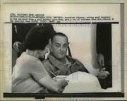 1965 Press Photo President Johnson Recovering From A Gall Bladder Operation