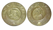 Pair Of 19th Century Decorative French Brass Wall Plaques
