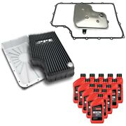 6r140 Transmission Service Kit And Ppe Black Deep Pan For 11-19 Ford F-250/f-350