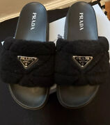 Authentic Fuzzy Prada Slides Sold Out. Size 41.5 Fits 9.5/10