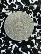 1860-a Germany Prussia 1 Thaler Lotx3926 Large Silver Coin Old Cleaning