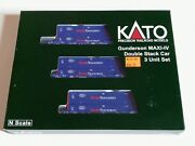 Kato N Scale Gunderson Maxi-iv Double Stack Pacer 3 Car Set 106-6179 New