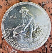 1985 Englehard American Prospector One Troy Ounce Pure 999 Silver Round