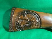Remington Winchester Eagle Carved Gun Stock For Lamp Or Other Project