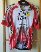 Parentini Cycling Jersey Tour De France S 100 Years 2013 Full Zip Made In Italy