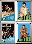 1972-73 Topps Los Angeles Lakers Almost Complete Team Set 6.5 - Ex/mt+