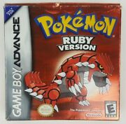 Nintendo Game Boy Advance Pokemon Ruby Version Made In Japan Agb-axve-usa Authen