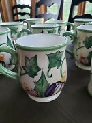 Zrike Hand-painted Mugs - Set Of 12 1 Has A Small Chip Pictured Below