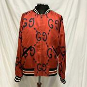 17ss Ghost Multi Print Bomber Jacket Red It46