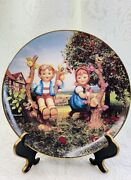 The Danbury Mint Collector Plate M J Hummel Apple Tree Boy And Girl