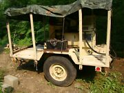 Military Mep-002a 5kw 60hz Diesel Generator On Trailer 120-240 1ph And 208 3ph