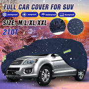 210t Suv Full Car Cover Waterproof Dust-proof Uv Resistant Outdoor M/l/xl/xxl