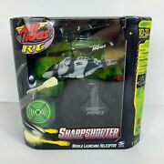 Air Hogs R/c Sharp Shooter Grey Spin Master Missile Launch Helicopter