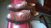Vintage Brogue Menand039s Shoes Leather Pollini Italy