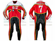 Barry Sheene 7 Motocycle Leather Riding Suits Motorbike Racing Sports Armor Suit